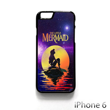 Disney The Moon Ariel The Little Mermaid for Iphone 4/4S Iphone 5/5S/5C Iphone 6/6S/6S Plus/6 Plus Phone case