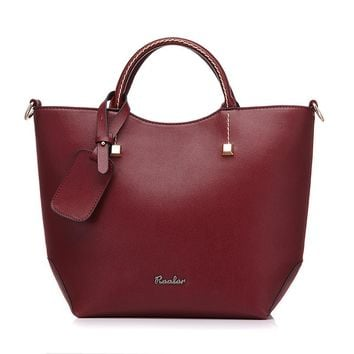 Elegant PU Leather Large Bucket Shoulder Bag