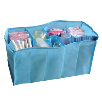 New 7 Slots Non Woven Fabric Baby Care Mummy Storage Holder Mommy Bag Liner Inner Container Management Diaper Nappy Stroller Bag