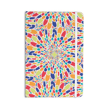"Miranda Mol ""Flourishing Blue"" Multicolor Geometric Everything Notebook"