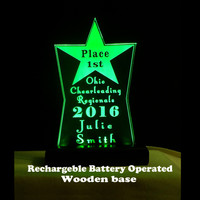 Rechargable Battery Powered Awards, Desk Signs
