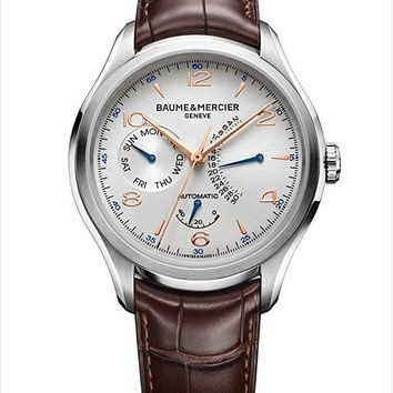 Baume and Mercier Clifton Leather Automatic Watch MOA10149