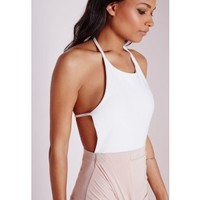 Halterneck Bodysuit White - Halterneck - Body - Tops - Missguided