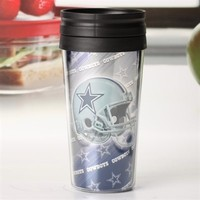 Dallas Cowboys 16oz Metallic Travel Mug – Black