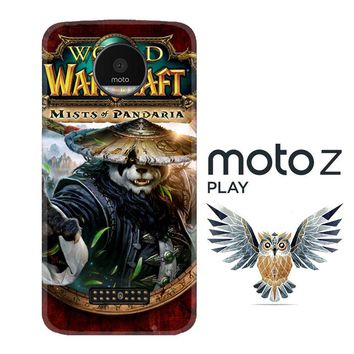 World of Warcraft Guardian Druid Mists of Pandaria Z0652 Motorola Moto Z Play Case