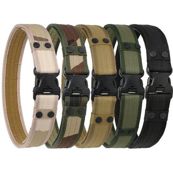 Army Style Combat Belt NEW 2017 Quick Release Men Camouflage Waistband Outdoor Hunting Accessory