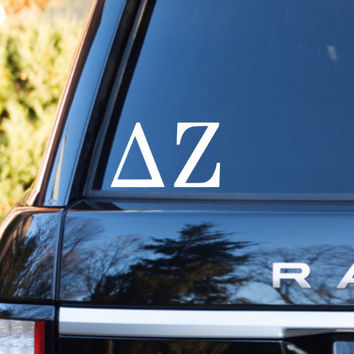 Delta Zeta Car Decal | Delta Zeta Car Sticker | Delta Zeta Sorority Decal | Delta Zeta Laptop Decal | Greek Decals | Greek Stickers | 159