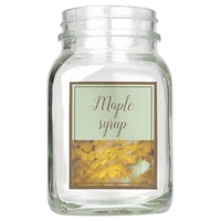 Yellow autumn maple leaves. Add you text and photo Mason Jar