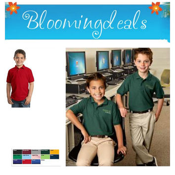 Set of 6 School Uniform Short Sleeve Polo Back To School