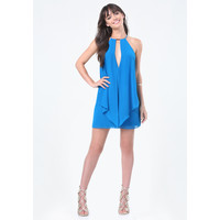 BAR TRIM DOUBLE LAYER DRESS