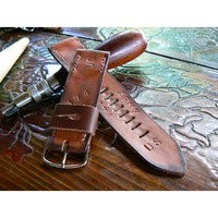 Brown Mens leather watch strap