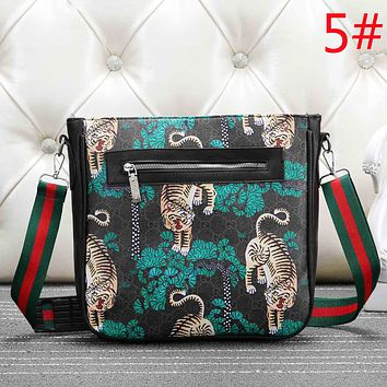 3507fc7a02 GUCCI Fashion New Tiger Snake Bird Floral Leaf More Couple Lette.
