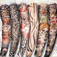 8pcs Mixed Designs Temporary Tattoo Fake Slip on Tattoos Arm Sleeves Sleevelet Fashion