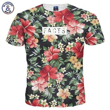 Mr.1991INC Beautiful Flowers Print T-shirt For Men/Women Summer Tees Quick Dry 3d Tshirts Tops Fashion