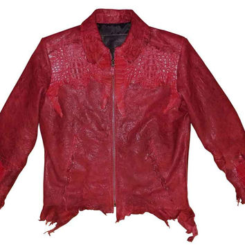 G-Gator - 2300 Washed Lambskin/Crocodile Jacket