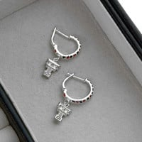 Texas Tech Red Raiders Dayna U Women's Crystal Hoop Earrings