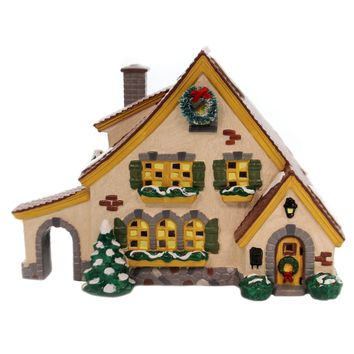 Department 56 House CARMEL COTTAGE Ceramic Snow Village House Retired 54666