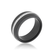 Ceramic Band Ring - Black, size : 09