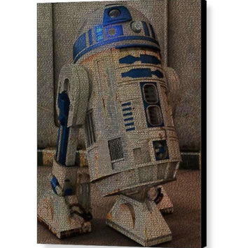 Star Wars R2D2 Language Text Quotes Mosaic INCREDIBLE