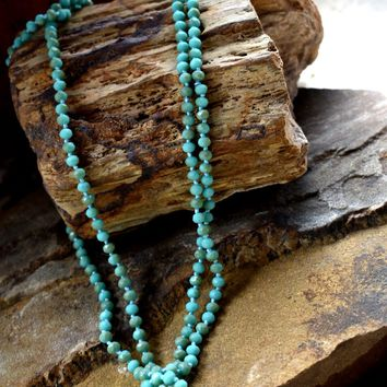 Turquoise Small Beaded Necklace