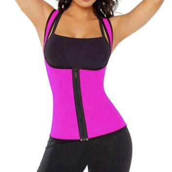 2017 Summer Sexy Womens Neoprene Body Shaper Slimming Waist Slim Belt Woman Sportswear Vest Underbust Shapewear Femme F2