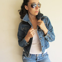 Vintage Levis Classic Rock and Roll Denim Jacket