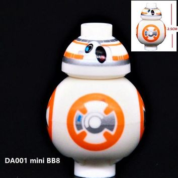 Single Sale Star Wars Rogue One The Force Awaken Hot Movie Mini BB8 Astromech Droid Building Blocks Bricks Kids Gift Toys DA001