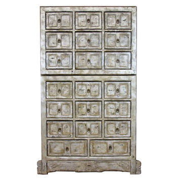 Vincenza Tall 20-Drawer Cabinet, Gray, Chest of Drawers