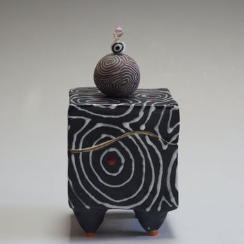 Black Optix Box by Vaughan Nelson (Ceramic Box) | Artful Home