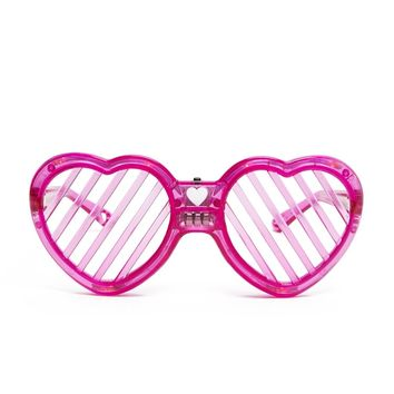 LED Heart Cutout Sunglasses