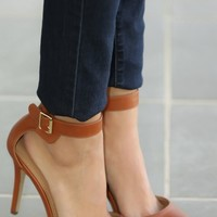 The Girls Are Out Heels-Cognac