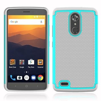 Heavy Duty Hybrid Rugged Case For ZTE Max XL Dual Layer Hard PC TPU Rubber Impact Protective Cover For ZTE Max XL N9560 Z986 @