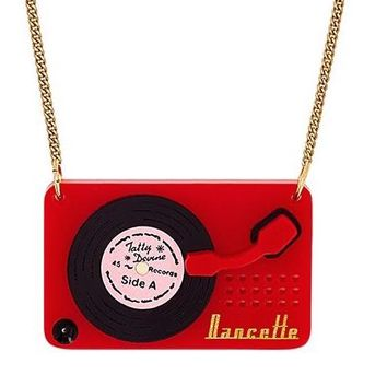 Vintage Record Player Necklace by Tatty Devine - LAST ONE!