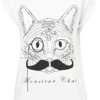 Monsieur Chat Tee By Tee And Cake - New In This Week  - New In