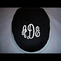 Toilet seat cover with Monogram