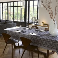 Twist Grey Reversible Table Linens