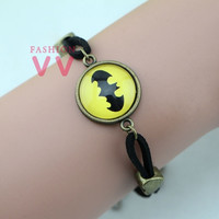 VVD0043 1pcs/lot Batman time Bracelet  Super hero Bracelet  Fashion jewelry