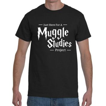 T-Shirt Unisex XS - XXL Cotton Just Here for a Muggle Studies Project  (Harry Potter)