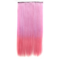 On Sale Sexy Hot Sale Beauty Hot Deal Wigs Pink Gradient Clip Ladies Straight Hair Hair Extensions [4923177284]