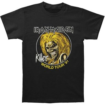 Iron Maiden Men's  Killer World Tour 81 T-shirt Black Rockabilia