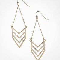 CHEVRON AND CHAIN DROP EARRINGS