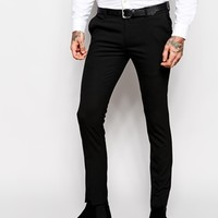 ASOS Super Skinny Fit Smart Trousers at asos.com