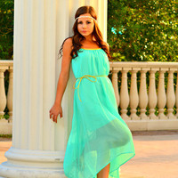 VENUS CHIFFON BRAIDED DRESS
