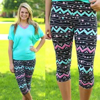 Hearts Treasure Patterned Leggings
