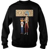 Rick and Morty Gucci shirt Sweatshirt Unisex