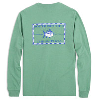 Long Sleeve Heathered Original Skipjack Tee in Pool Green by Southern Tide