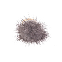 Grey Furry Pom Ring
