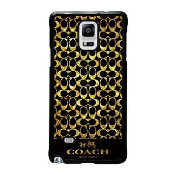 COACH NEW YORK GOLD Samsung Galaxy Note 4 Case Cover