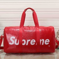 Day-First™ Louis Vuitton x Supreme Women Leather Luggage Travel Bags Tote Handbag