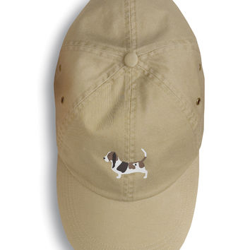 Basset Hound Embroidered Baseball Cap BB3402BU-156